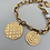 """Thumbnail: 8"""" Yellow Gold Plated Silver Elongated Bracelet"""