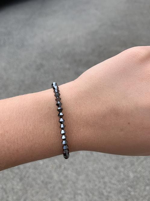 Hematite Swarovski Crystal Bracelet
