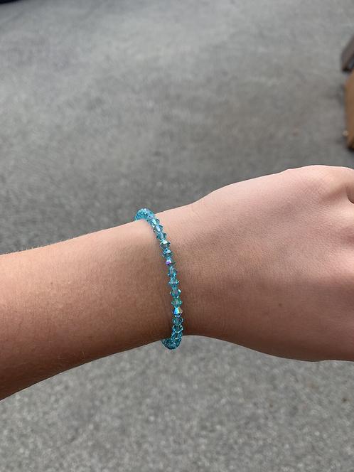 Light Turquoise (December Birthstone) Swarovski Crystal Bracelet