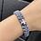 Thumbnail: Silver/Slate Men's Strength Bracelet