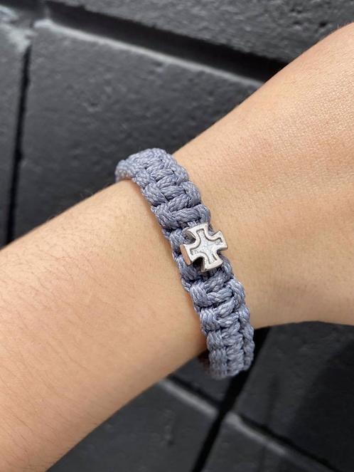 Silver/Slate Men's Strength Bracelet