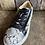 Thumbnail: Livi Black Snake Skin Tie Sneakers
