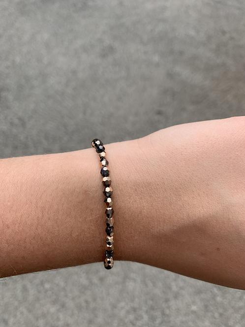 Rose Gold & Black Diamond Swarovski Crystal Bracelet