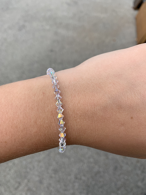 Clear (April Birthstone) Swarovski Crystal Bracelet