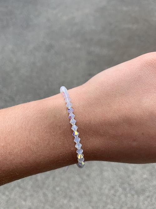 White Opal (October Birthstone) Swarovski Crystal Bracelet