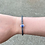 Thumbnail: Gray Leather Braided Magnetic Evil Eye Bracelet with Clear Crystals