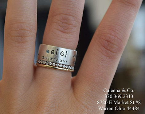 Sterling Silver Ring with Handwriting