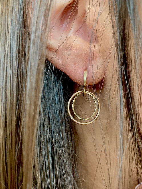 Adina Gold Filled Simple Circle Dangle Earring