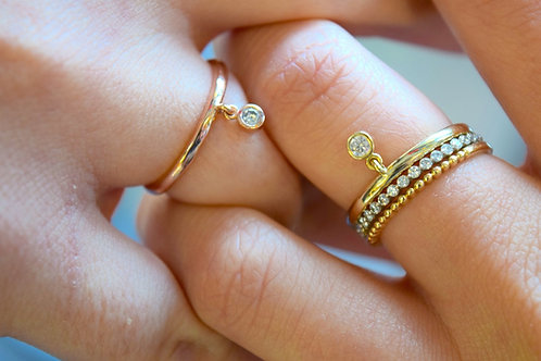 Diamond Fringe Ring