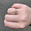 Thumbnail: Adjustable Gold Tone Ring Wrap with Clear Crystals