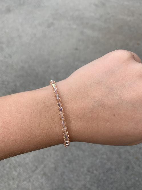 Light Peach Swarovski Crystal Bracelet