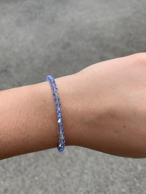 Light Sapphire Swarovski Crystal Bracelet