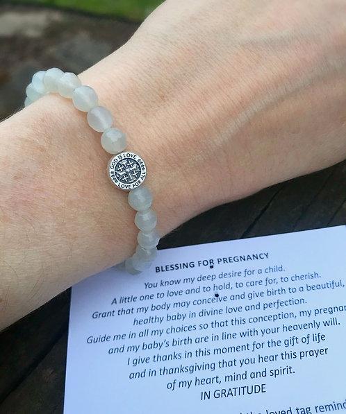Moonstone fertility bracelet-Mother's love collection