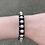 Thumbnail: Black Leather Adjustable Bracelet with Pearls