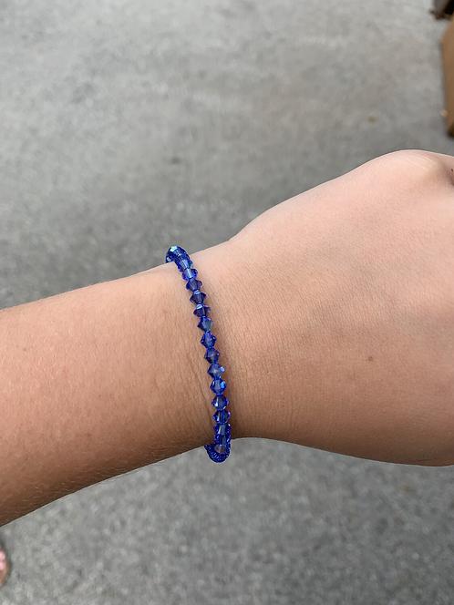 Sapphire (September Birthstone) Swarovski Crystal Bracelet