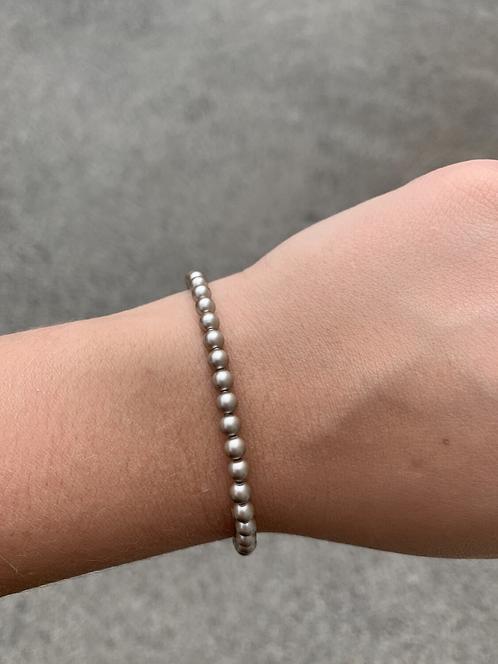Platinum Pearl Swarovski Crystal Bracelet