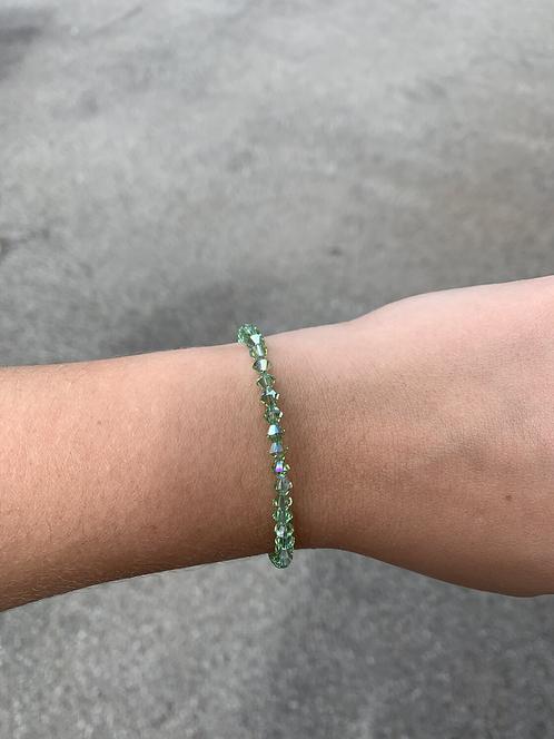 Peridot (August Birthstone) Swarovski Crystal Bracelet