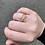 Thumbnail: Adjustable Gold Tone Ring Wrap with Light Rose Stones