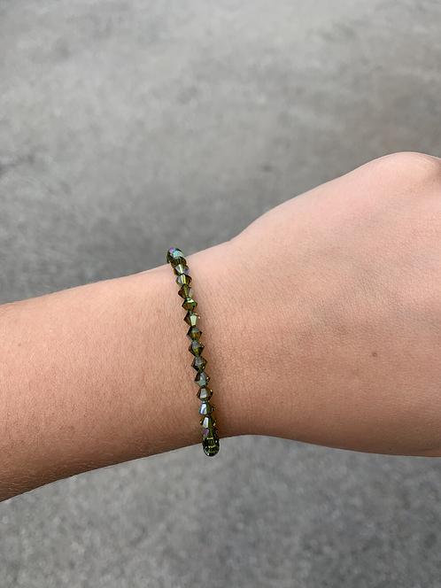 Olivine Swarovski Crystal Bracelet
