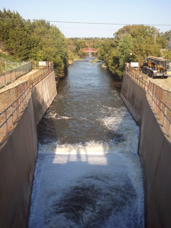 Lake Grapevine Dam Dewatering