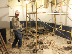 1922 demoing wall in future fraud office 117