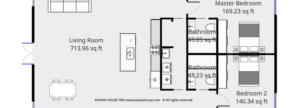 TWO BED/TWO BATH