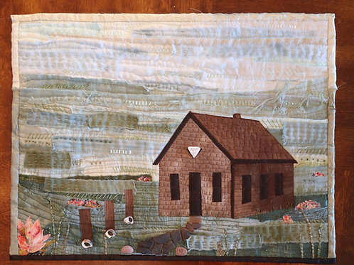 Pattern and Instructions for Quilted Small Building Landscape