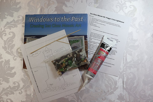 Sea Glass Mosaic Kit - Peggy's Cove Lighthouse