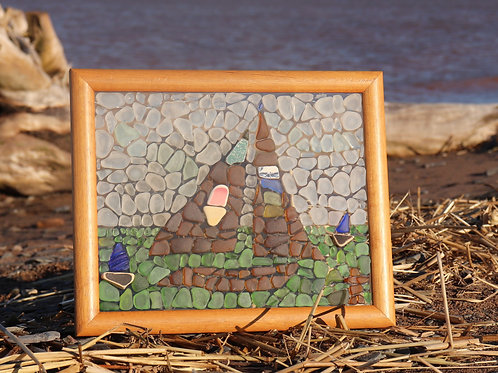 Pattern and Instructions for Nova Scotia Sailboat Sea Glass Mosaic