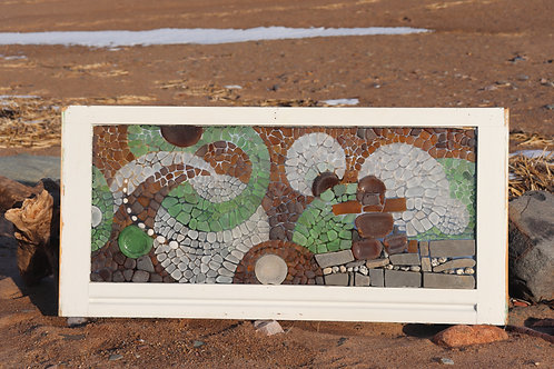 Sea Glass Mosaic Inukshuk