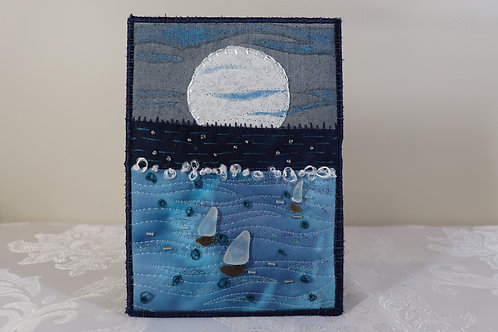 """5"""" X 7"""" Quilted Sea Glass Art"""
