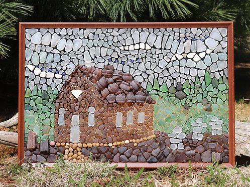 One Room Schoolhouse Sea Glass Mosaic