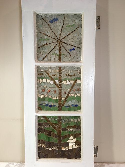 Fall Grass Sea Glass Mosaic