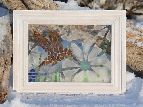 Pattern and Instructions for Hummingbird Sea Glass Mosaic