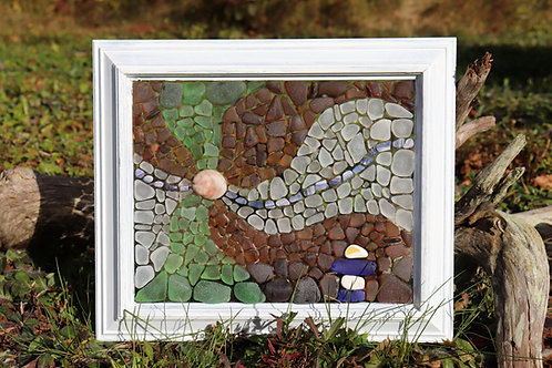 Pattern and Instructions for Creating Waves Sea Glass Mosaic