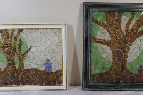 Pattern and Instructions for Supermoon and Trees Sea Glass Mosaic