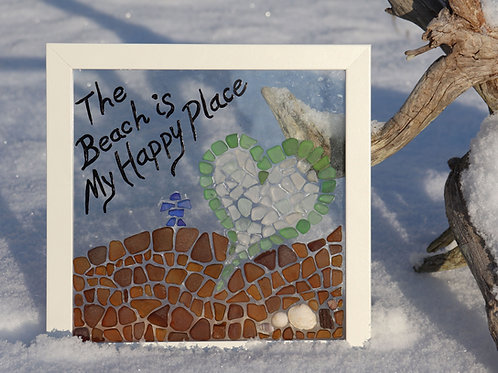 Pattern and Instructions for The Beach is My Happy Place Sea Glass Mosaic
