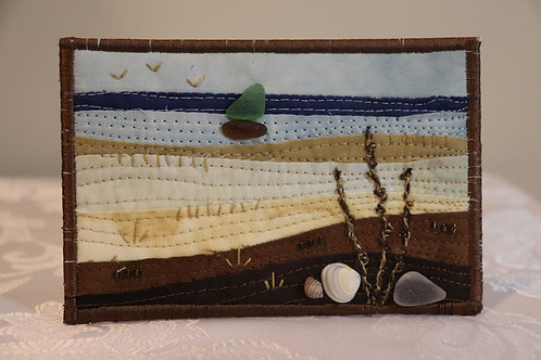"""4"""" X 6"""" Quilted Sea Glass Art"""