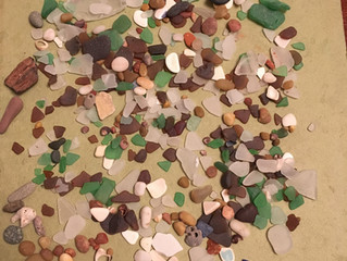 Last Sea Glass Hunting for the season