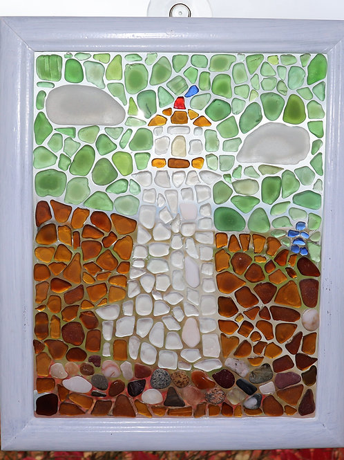 Pattern and Instructions for Peggy's Cove Lighthouse Sea Glass Mosaic