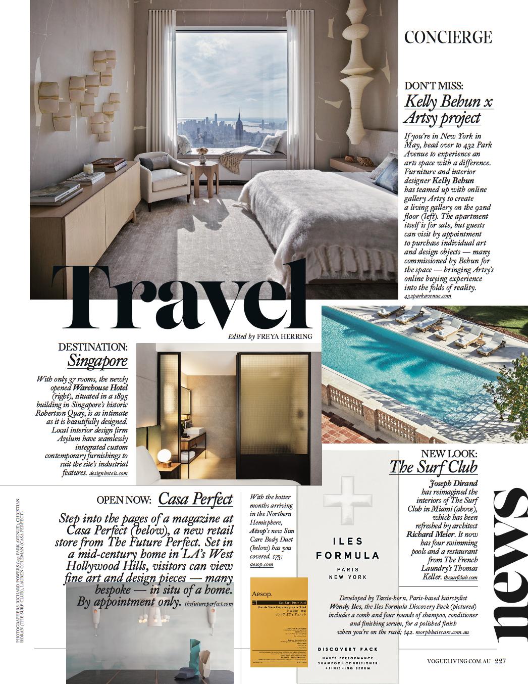 VOGUE Living Travel News