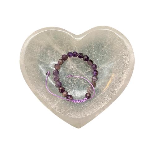 Amethyst Bracelet  Adjustable Cord