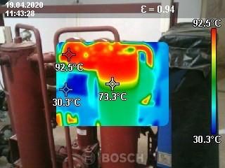 Обследование тепловых пунктов тепловизором BOSH GTC-400