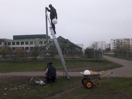 Восстановление дворового освещения после 8 лет его отсутствия