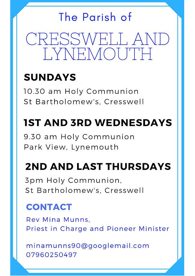 St Bartholomew's Church Cresswell, St Aidan's Church, Lynemouth