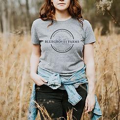 Bluegroves Farms - Womans' T-Shirt Mocku