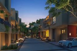 urban SERENITY ROW HOUSE Night  view