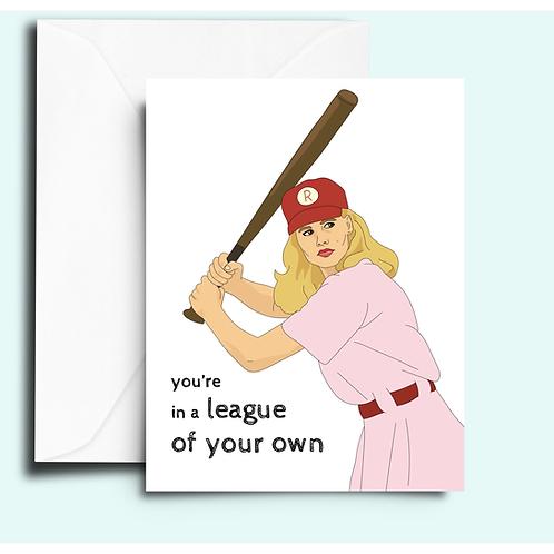 Fem Cards - League of Their Own Card