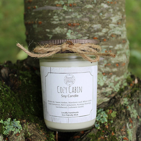 Coastal Threads - Cozy Cabin 8oz Soy Candle