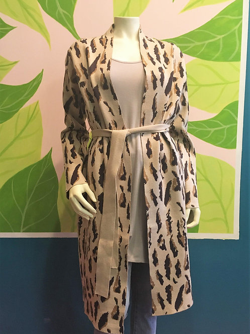 Teeberry & Weave - Leopard Print Cardigan With Pockets